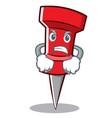 angry red pin character cartoon vector image