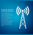 antenna flat icon on blue background vector image