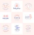 Baby logos set vector image