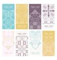 Cards Vintage decorative elements vector image