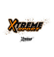 extreme sports logo two options vector image