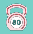 icon in flat design weight vector image