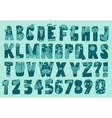 Original Summer Beach Font Type vector image