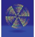 rainbow windmill vector image