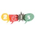 retro year 2015 vector image