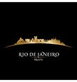 Rio de Janeiro Brazil city skyline silhouette vector image