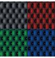 Set of dark sofa pattern background vector image