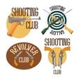 Set of logo shooting club vector image