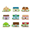 Stores and shops buildings vector image