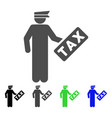 tax officer flat icon vector image