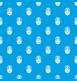 tribal mask pattern seamless blue vector image