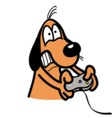 xbox addicted dog vector image