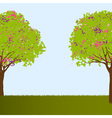 Beautiful trees vector image vector image