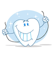 Tooth Character Holding Floss vector image