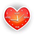 heart of clock vector image vector image