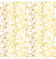 white and gold foil wire geometric mosaic vector image