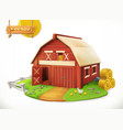 farm red garden shed 3d icon vector image vector image