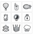 Aeronautics icons set vector image