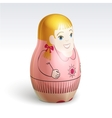 girl matrioshka vector image vector image