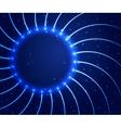 Abstract shining circle background vector image