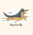 funny cute cartoon german shepherd dog vector image