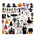 Halloween fashion flat icons vector image