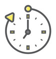 overtime colorful line icon business and clock vector image