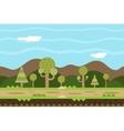 Seamless Road Nature Concept Flat Design Landscape vector image