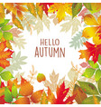 Seasonal frame of autumnal leaves vector image