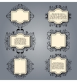 Vintage floral frame Element for design vector image