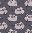 Fabric design flower gray vector image