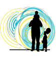 Dad son and daughter vector image vector image