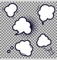 comic speech bubble empty icons vector image