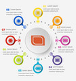 infographic template with label icons vector image vector image