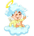 little baby angel with foam vector image