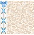 background with corset lacing vector image