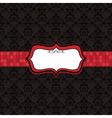 black pattern and red frame vector image vector image