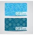 Abstract Beautiful Gift Card Christmas Design Set vector image