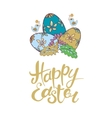 Happy Easter lettering Typographical vector image