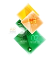 Glossy color squares vector image
