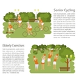 Banners of Retired elderly senior age couple vector image