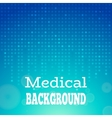 Blue medical background vector image
