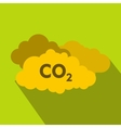 CO2 sign and cloud icon flat style vector image