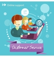 Customer service concept vector image