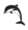 dolphin icon black silhouette dolphin emblem and vector image