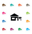 isolated ranch icon farmhouse element can vector image