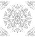 mandala coloring page for adults vector image