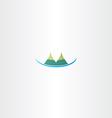 mountain hills icon vector image
