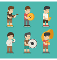 Musician character eps10 format vector image