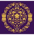 ornate elemen in Eastern style on deep violet vector image